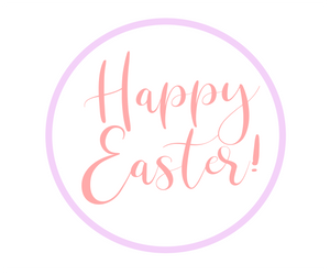Happy Easter Purple/Pink Package Tags - Dots and Bows Designs