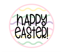 Load image into Gallery viewer, Happy Easter Squiggles Pink Package Tags - Dots and Bows Designs