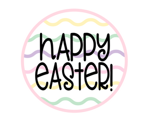 Happy Easter Squiggles Pink Package Tags - Dots and Bows Designs