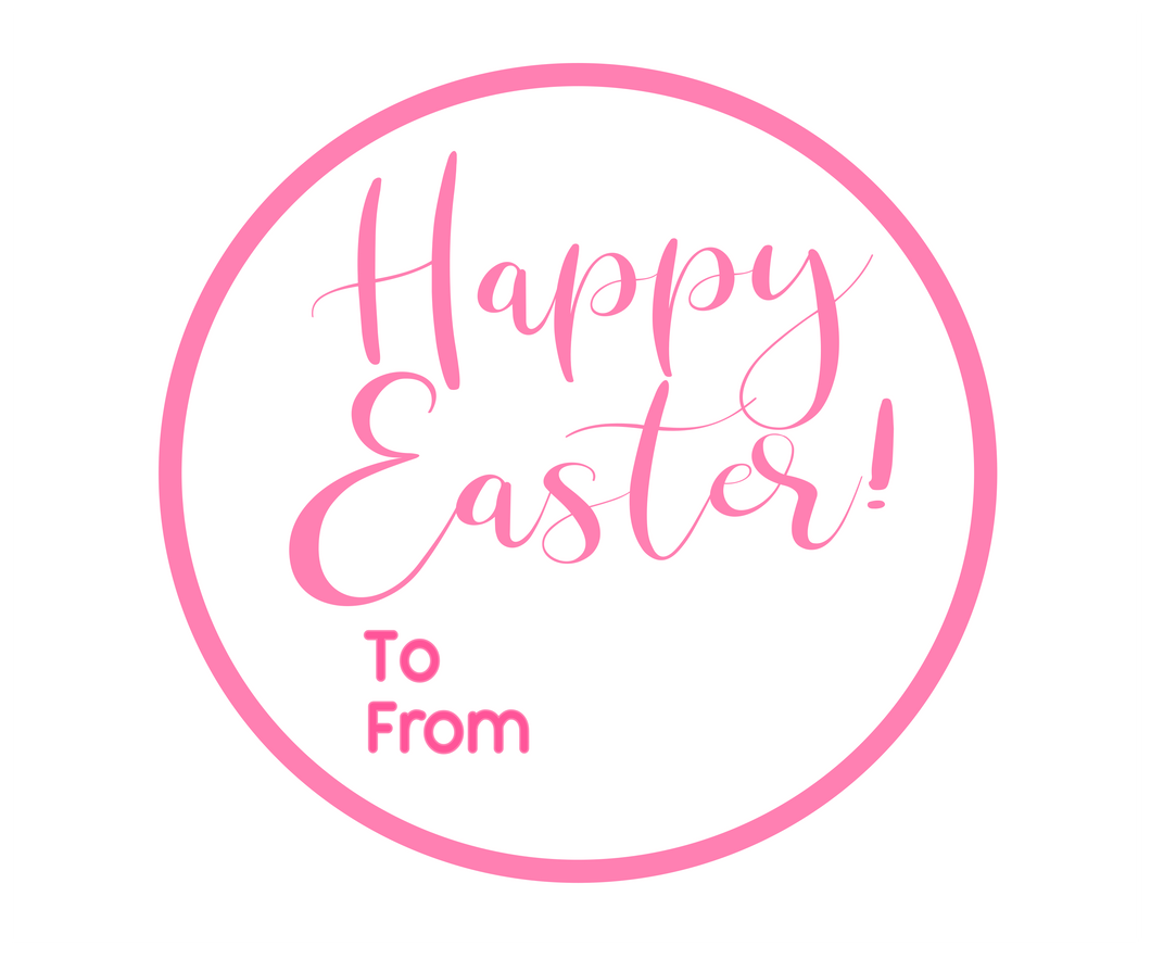 Happy Easter To From Solid Package Tags - Dots and Bows Designs