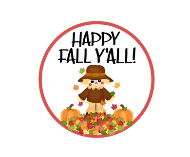 Happy Fall Y'all Scarecrow Package Tag - Dots and Bows Designs