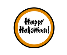 Load image into Gallery viewer, Happy Halloween Web Package Tag - Dots and Bows Designs