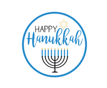 Load image into Gallery viewer, Happy Hanukkah Package Tags - Dots and Bows Designs