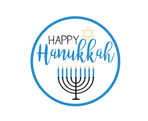 Happy Hanukkah Package Tags - Dots and Bows Designs