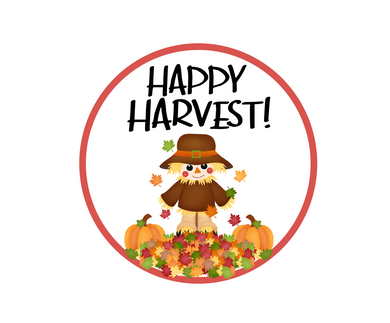 Happy Harvest Scarecrow Package Tag - Dots and Bows Designs