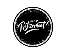 Load image into Gallery viewer, Happy Retirement Package Tags - Dots and Bows Designs