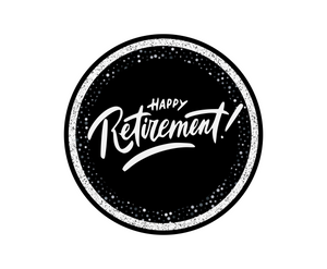 Happy Retirement Package Tags - Dots and Bows Designs