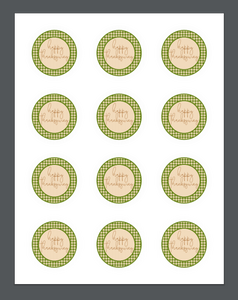 Happy Thanksgiving Green Plaid Package Tag - Dots and Bows Designs