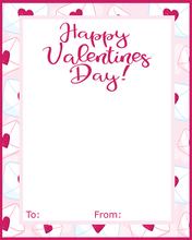 Load image into Gallery viewer, Happy Valentines Day w/TF Card 4x5 - Dots and Bows Designs
