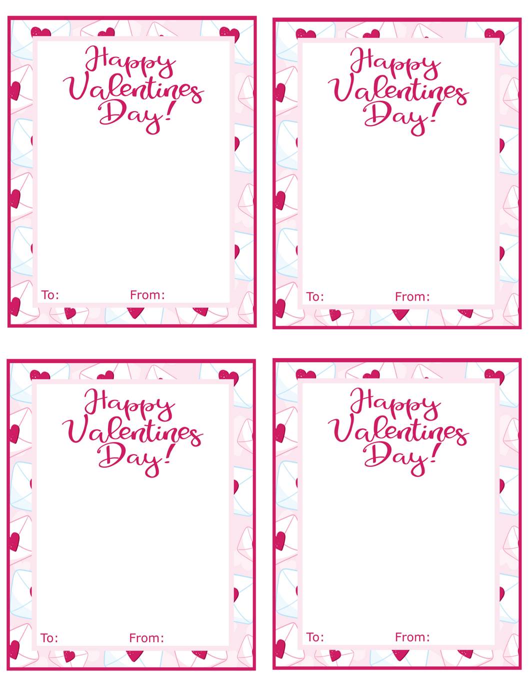 Happy Valentines Day w/TF Card 4x5 - Dots and Bows Designs