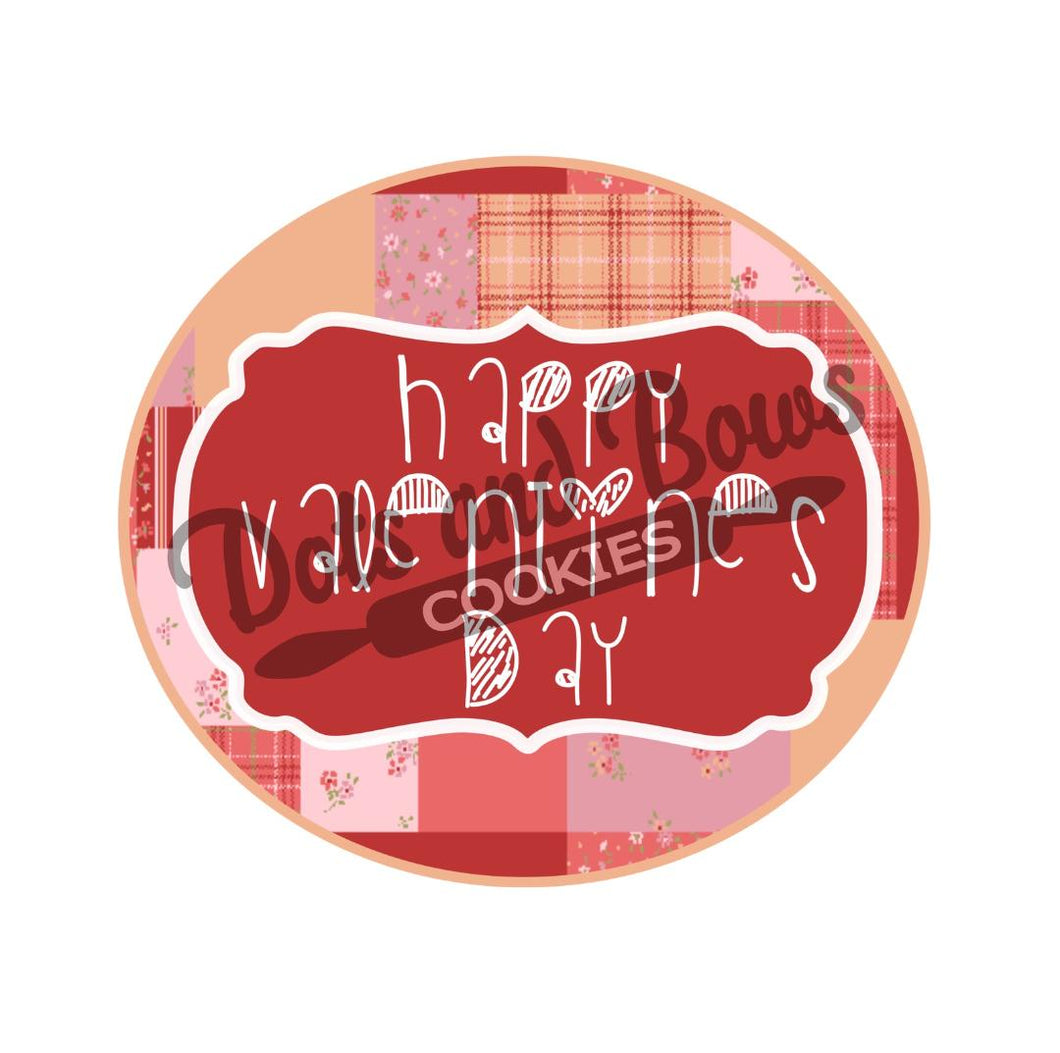 Happy Valentines Day Package Tags - Dots and Bows Designs