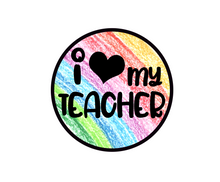 Load image into Gallery viewer, Heart My Teacher Package Tags - Dots and Bows Designs