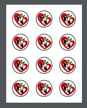 Load image into Gallery viewer, Heart and Hands Package Tags - Dots and Bows Designs