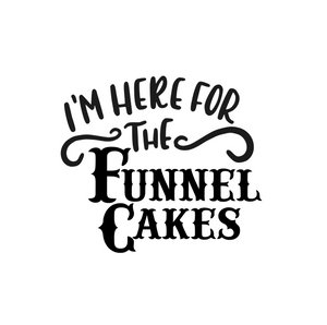 Here For The Funnel Cake Stencil Digital Download - Dots and Bows Designs