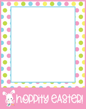 Load image into Gallery viewer, Hoppity Easter Card 4x5 - Dots and Bows Designs