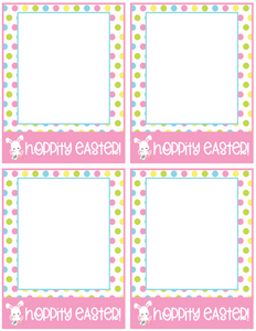 Hoppity Easter Card 4x5 - Dots and Bows Designs