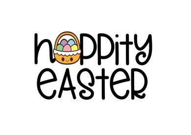 Hoppity Easter Cutter - Dots and Bows Designs