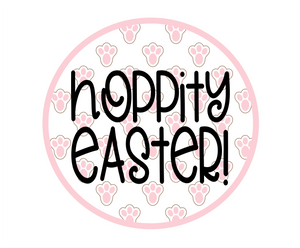 Hoppity Easter Paw Print Package Tags - Dots and Bows Designs