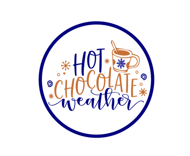 Hot Chocolate Weather Package Tags - Dots and Bows Designs