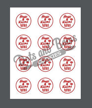 Load image into Gallery viewer, Hugs and Kisses Package Tags - Dots and Bows Designs