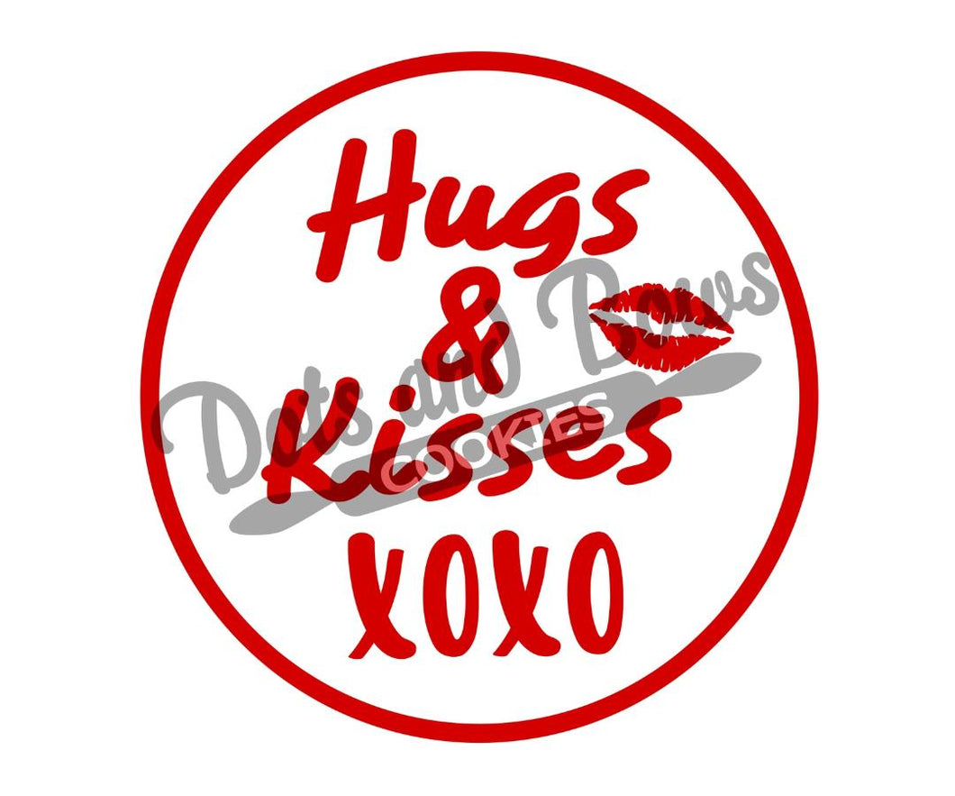 Hugs and Kisses Package Tags - Dots and Bows Designs