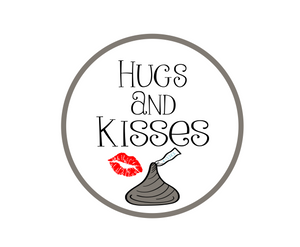 Choc Hugs and Kisses Package Tags - Dots and Bows Designs