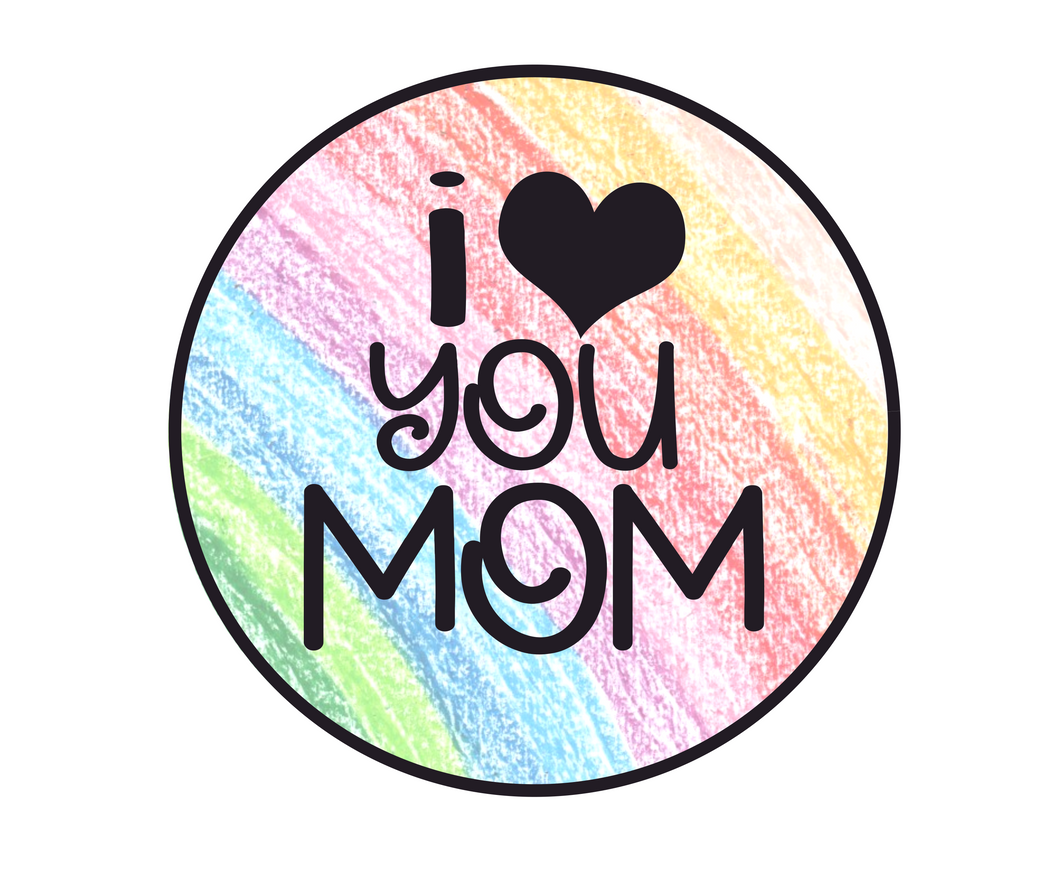 I Heart You Mom Rainbow Package Tags - Dots and Bows Designs