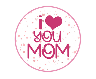 I Heart You Mom Package Tags - Dots and Bows Designs