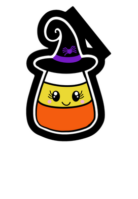Witchy Candy Corn Cutter - Dots and Bows Designs