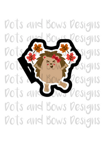 Hedgehog Leaves Cutter - Dots and Bows Designs