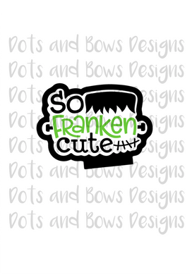 So Franken Cute Cutter - Dots and Bows Designs
