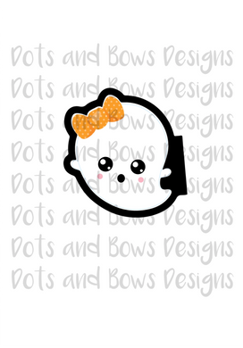Kawaii Ghost Cutter - Dots and Bows Designs