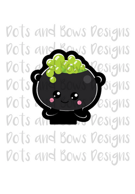 Kawaii Cauldron Cutter - Dots and Bows Designs