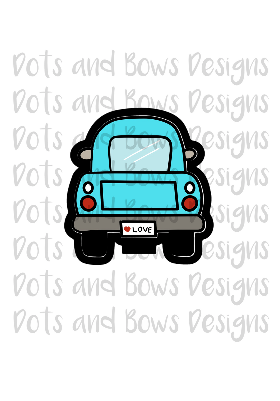 Pickup Truck Cutter - Dots and Bows Designs