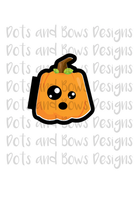 Kawaii Pumpkin Cutter - Dots and Bows Designs