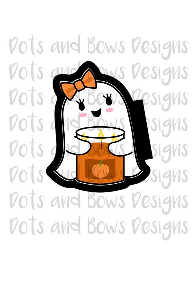 Candle Ghost Cutter - Dots and Bows Designs