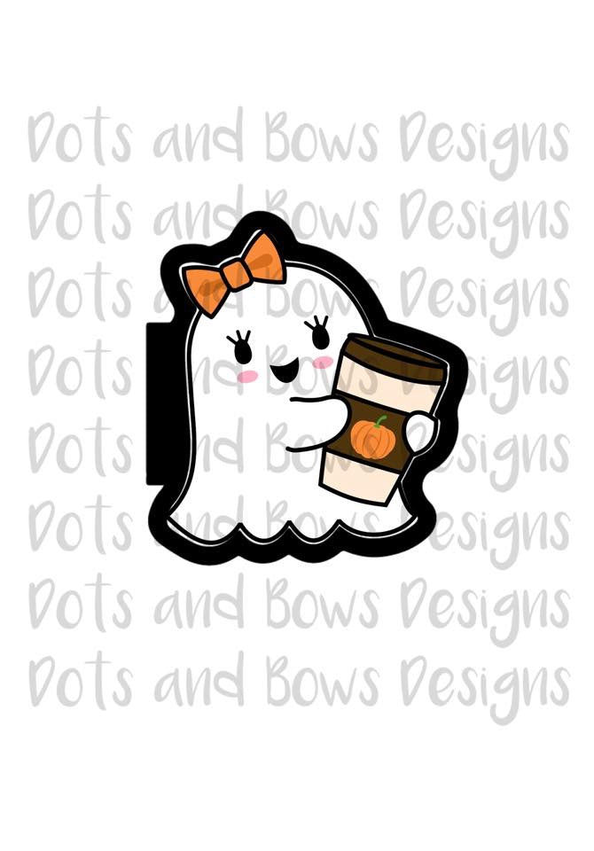 Coffee Ghost Cutter - Dots and Bows Designs