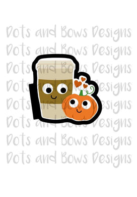 Pumpkin Spice Cutter - Dots and Bows Designs