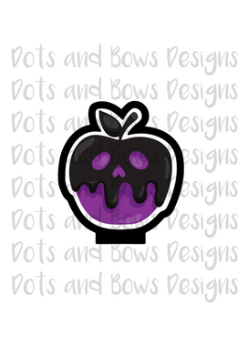 Poison Apple Cutter - Dots and Bows Designs