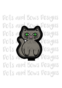 Sitting Cat Cutter - Dots and Bows Designs