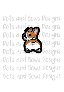 Corgi Butt Cutter - Dots and Bows Designs