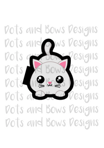 Playful Kitty Cutter - Dots and Bows Designs