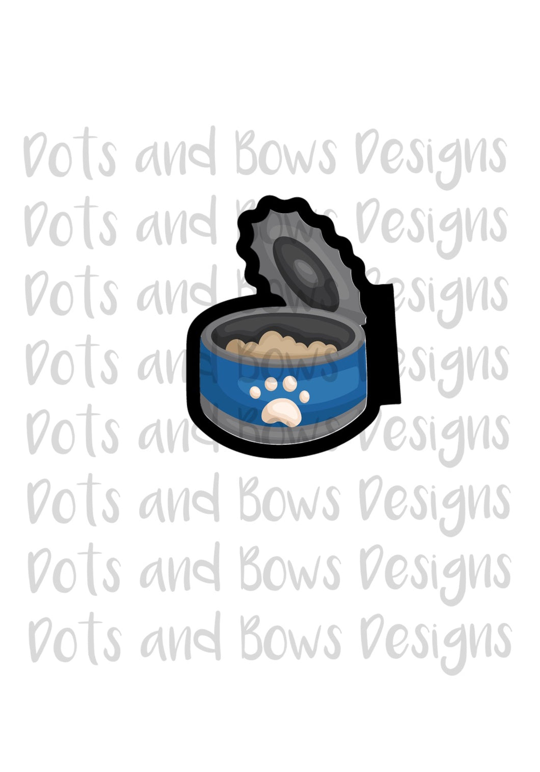 Can of Food Cutter - Dots and Bows Designs
