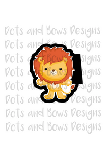 Cowardly Lion Cutter - Dots and Bows Designs