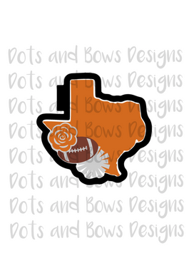 Texas Football Cutter - Dots and Bows Designs