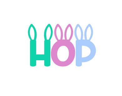 Hop with Ears Cutter - Dots and Bows Designs