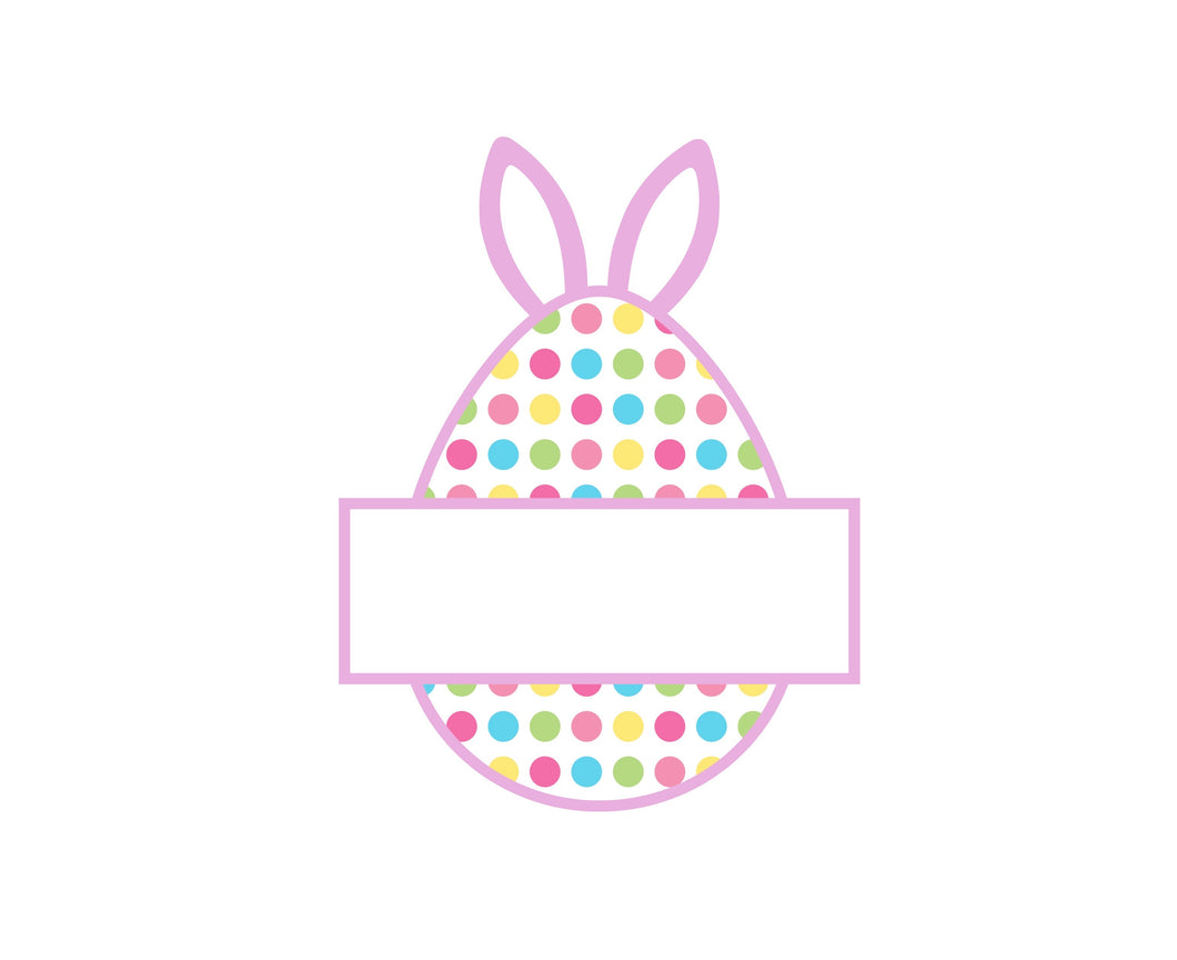 Bunny Egg Plaque Cutter - Dots and Bows Designs