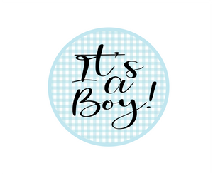 Its a Boy Gingham Package Tags - Dots and Bows Designs