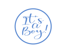 Load image into Gallery viewer, Its a Boy Solid Package Tags - Dots and Bows Designs