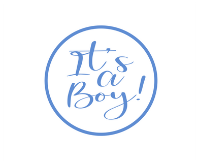 Its a Boy Solid Package Tags - Dots and Bows Designs